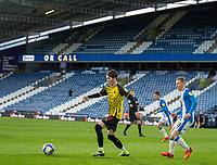 19th December 2020 The John Smiths Stadium, Huddersfield, Yorkshire, England; English Football League Championship Football, Huddersfield Town versus Watford; James Garner of Watford turns on the ball