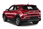 Car pictures of rear three quarter view of 2020 Ssangyong Korando Onyx 5 Door SUV Angular Rear