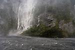 Waterfall in Doubtful Sound. Fiordland National Park. New Zealand.