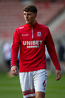 13th March 2021; Riverside Stadium, Middlesbrough, Cleveland, England; English Football League Championship Football, Middlesbrough versus Stoke City; Dael Fry of Middlesbrough pre game warm up