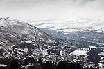 Snow in the heart of the Welsh Valleys during the recent winter weather..