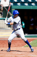 Jeremy Lucas (32) of the Indiana State Sycamores at bat during a game against the Evansville Purple Aces in the 2012 Missouri Valley Conference Championship Tournament at Hammons Field on May 23, 2012 in Springfield, Missouri. (David Welker/Four Seam Images)