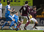 St Johnstone v Hearts…23.12.17…  McDiarmid Park…  SPFL<br />Steven MacLean misses a late chance to score<br />Picture by Graeme Hart. <br />Copyright Perthshire Picture Agency<br />Tel: 01738 623350  Mobile: 07990 594431