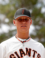 Aaron King / AZL Giants..Photo by:  Bill Mitchell/Four Seam Images