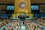 General Assembly Seventy-fourth session, 5th plenary meeting<br /> <br /> His Excellency Uhuru Kenyatta, President and Commander-in-Chief of the Defence<br /> Forces, Republic of Kenya