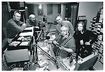 Clare FM's line-up of traditional music presenters (from left) Matt Purcell, Tim Dennehy, general manager Liam O'Shea, Pat Costello and Claire Keville - January 29, 1999