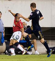 Rafael, Jordan Harvey. Manchester United defeated Philadelphia Union, 1-0.