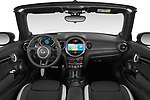Stock photo of straight dashboard view of 2021 MINI MINI Cooper-S-JCW 2 Door Convertible Dashboard