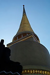 The Phra Rattana Chedi within the Grand Palace and Wat Phra Kaeo Bangkok, Thailand