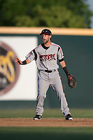 Lake Elsinore Storm shortstop Deion Tansel (10) during a California League game against the Modesto Nuts at John Thurman Field on May 11, 2018 in Modesto, California. Modesto defeated Lake Elsinore 3-1. (Zachary Lucy/Four Seam Images)
