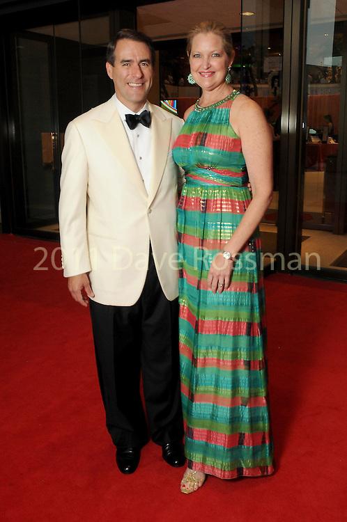 "Joella and Steve Mach at the 2016 Houston Symphony Gala ""Carnaval"" at Jones Hall Saturday May 14,2016(Dave Rossman Photo)"