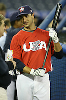 March 6, 2009:  Left fielder Ryan Braun (18) of Team USA during the first round of the World Baseball Classic at the Rogers Centre in Toronto, Ontario, Canada.  Team USA defeated Canada 6-5 in both teams opening game of the tournament.  Photo by:  Mike Janes/Four Seam Images