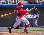 11 March 2014: Washington Nationals infielder Jeff Kobernus in action during a Spring Training game against the New York Yankees at Space Coast Stadium in Viera, Florida. The Nationals defeated the Yankees 3-2 in Grapefruit League play. Mandatory Credit: Ed Wolfstein Photo *** RAW (NEF) Image File Available ***