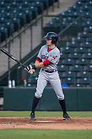 AZL Indians 2 shortstop Raynel Delgado (32) at bat during an Arizona League game against the AZL Angels at Tempe Diablo Stadium on June 30, 2018 in Tempe, Arizona. The AZL Indians 2 defeated the AZL Angels by a score of 13-8. (Zachary Lucy/Four Seam Images)