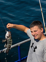 Troop 10 Boy Scout deep-sea fishing trip about 15 miles off the South Carolina coast near Huntington Beach State Park.