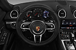 Car pictures of steering wheel view of a 2018 Porsche 718 Boxster Base 2 Door Convertible