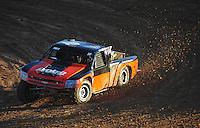 Dec. 10, 2011; Chandler, AZ, USA;  LOORRS pro 2 unlimited driver Myan Spaccarelli during round 15 at Firebird International Raceway. Mandatory Credit: Mark J. Rebilas-