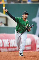 Clinton LumberKings Osmer Morales (34) throws during the game against the Cedar Rapids Kernels at Veterans Memorial Stadium on April 16, 2016 in Cedar Rapids, Iowa.  Cedar Rapids won 7-0.  (Dennis Hubbard/Four Seam Images)