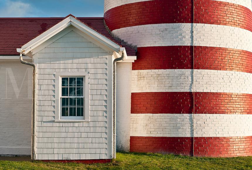 West Quoddy Head Light , Lubec, Maine, USA