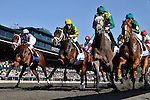 10 April 2010:  The field passes the wire for the first time in the 1 1/8th mile G1 Toyota BLuegrass Stakes at Keeneland Race Course in Lexington, Kentucky.