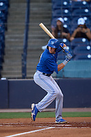 Dunedin Blue Jays PK Morris (12) bats during a game against the Tampa Tarpons on May 7, 2021 at George M. Steinbrenner Field in Tampa, Florida.  (Mike Janes/Four Seam Images)
