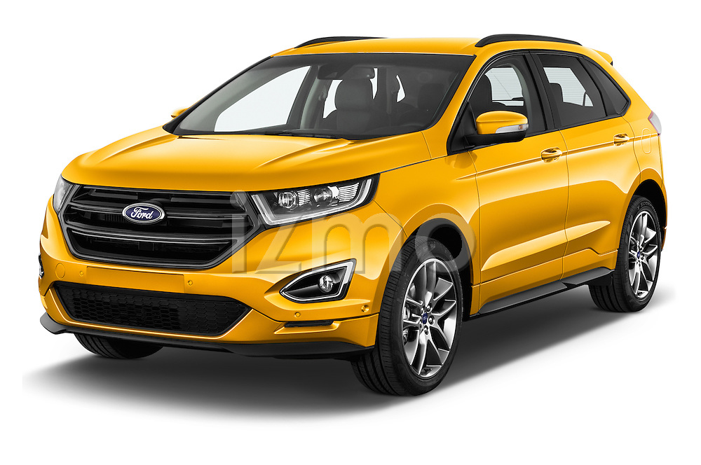 2017 Ford Edge Sport-4wd 5 Door Suv Angular Front stock photos of front three quarter view