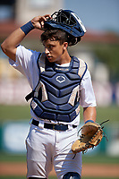 Detroit Tigers catcher Sam McMillan (32) during a Florida Instructional League intrasquad game on October 17, 2020 at Joker Marchant Stadium in Lakeland, Florida.  (Mike Janes/Four Seam Images)