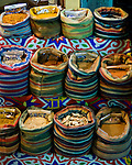 Khan el-Khalili bazaar, Cairo, Egypt -- Spices for sale at a small stand in the Khan bazaar. © Rick Collier / RickCollier.com.