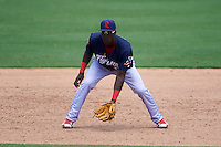 Reading Fightin Phils third baseman Gustavo Pierre (15) during a game against the Bowie Baysox on July 22, 2015 at Prince George's Stadium in Bowie, Maryland.  Bowie defeated Reading 6-4.  (Mike Janes/Four Seam Images)