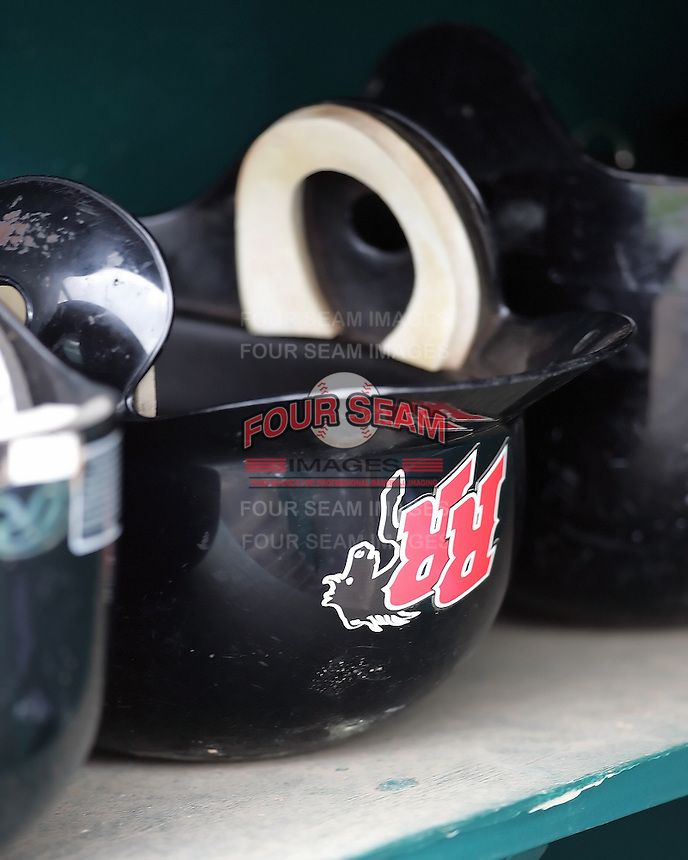 Frisco Rough Riders helmet. Photo by Andrew Woolley / Four Seam Images.