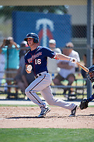 Minnesota Twins Andrew Cosgrove (16) during a Minor League Spring Training game against the Tampa Bay Rays on March 17, 2018 at CenturyLink Sports Complex in Fort Myers, Florida.  (Mike Janes/Four Seam Images)