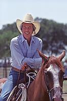 "Steve Kanaly as Ray Krebbs on set of ""Dallas,"" TV Show, 1980."