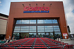 Shopping carts stand in front of a newly opened Costco Wholesale Corp. warehouse in Villebon-Sur-Yvette, France, on Saturday, July 7, 2018. The 150,000-square foot warehouse, which opened last month just outside of Paris, is Costco's first store in France. Costco plans to open 15 more warehouses in France by 2025. Photograph by Michael Nagle