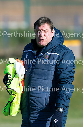 St Johnstone Training….29.10.19<br />Manager Tommy Wright pictured during training this morning at McDiarmid Park ahead of tomorrow's game against Hearts.<br />Picture by Graeme Hart.<br />Copyright Perthshire Picture Agency<br />Tel: 01738 623350  Mobile: 07990 594431
