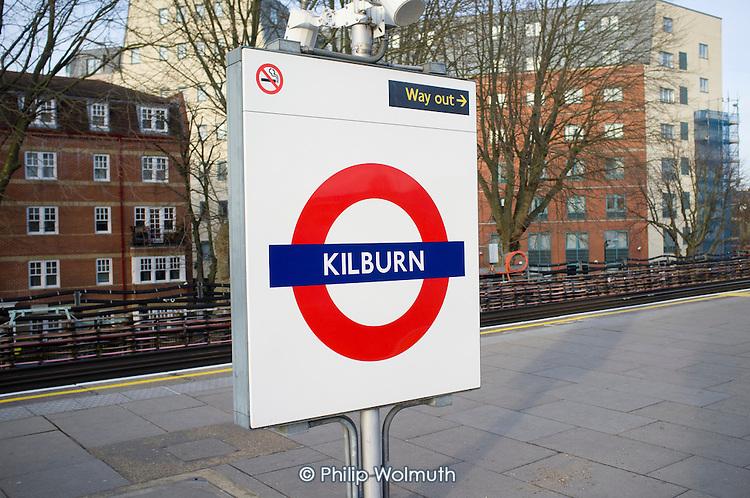 Kilburn underground station, London.