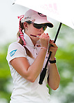 CHON BURI, THAILAND - FEBRUARY 17:  Paula Creamer of USA writes on her yardage book on the 12th hole during day two of the LPGA Thailand at Siam Country Club on February 17, 2012 in Chon Buri, Thailand.  Photo by Victor Fraile / The Power of Sport Images