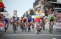 winner of the first 2 stages Arnaud Démare (FRA/FDJ.fr)<br /> <br /> stage 2<br /> Euro Metropole Tour 2014 (former Franco-Belge)