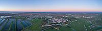 France, Saintonge, Charente Maritime, Hiers Brouage,  Brouage citadel, labelled Les Plus Beaux Villages de France (The Most Beautiful Villages of France) (aerial view) // France, Saintonge, Charente-Maritime (17), Hiers-Brouage, citadelle de Brouage, labellisé Les Plus Beaux Villages de France (vue aérienne)