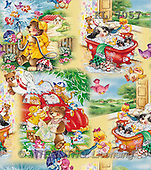 Interlitho, Michele, GIFT WRAPS, paintings, amimals washing(KL7057,#GP#) everyday