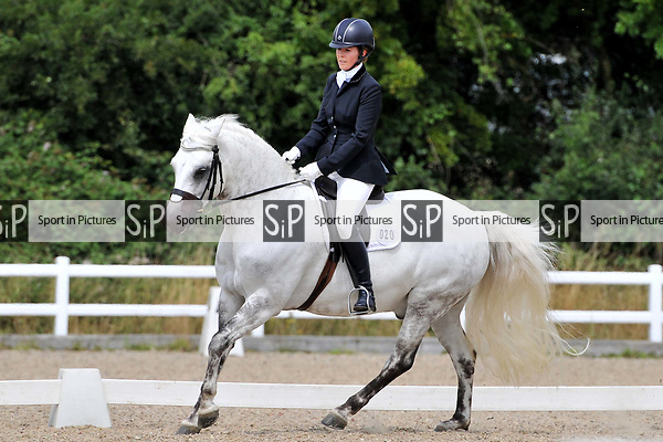 Stapleford Abbotts. United Kingdom. 03 August 2019. Class 7. Unaffiliated dressage. Brook Farm training centre. UK.~ 03/08/2019.  MANDATORY Credit Ellen Szalai/Sport in Pictures - NO UNAUTHORISED USE - 07837 394578