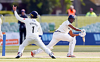 Keaton Jennings of Lancashire takes a catch to dismiss Miguel Cummings to win the game for Lancashire during Kent CCC vs Lancashire CCC, LV Insurance County Championship Group 3 Cricket at The Spitfire Ground on 25th April 2021