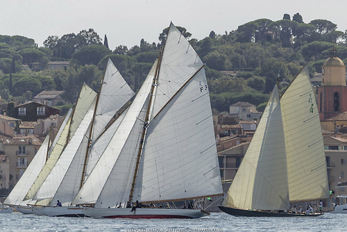 Back to the classic sailing, and a decent breeze making in from seaward. Photo Gilles Martin-Raget