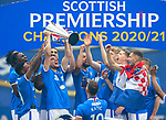15.05.2021 Rangers v Aberdeen: Ianis Hagi with the SPFL Premiership league trophy