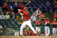 Ohio State Buckeyes shortstop Craig Nennig (7) at bat during a game against the Pitt Panthers on February 20, 2016 at Holman Stadium at Historic Dodgertown in Vero Beach, Florida.  Ohio State defeated Pitt 11-8 in thirteen innings.  (Mike Janes/Four Seam Images)