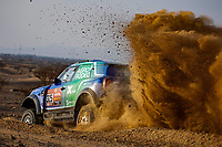 31st December 2020, Jeddah, Saudi Arabian. The vehicle and river shakedown for the 2021 Dakar Rally in Jeddah;   325 Zala Vaidotas lt, Fiuza Paulo prt, Mini, Agrorodeo, Auto, action during the shakedown of the Dakar 2021 in Jeddah