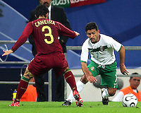 Zinha (7) of Mexico moves around Caneira (3) of Portugal. Portugal defeated Mexico 2-1 in their FIFA World Cup Group D match at FIFA World Cup Stadium, Gelsenkirchen, Germany, June 21, 2006.
