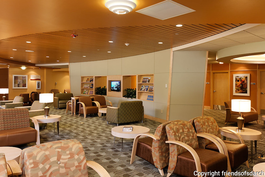 Emergency Room, Eisenhower Medical Center, Rancho Mirage, CA. High tech project and unique design. Interior architecture and design by Jain Malkin, CID. Photo by Steve McClelland Photography.