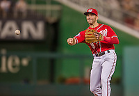 22 August 2015: Washington Nationals infielder Danny Espinosa gets the second out of the 4th inning against the Milwaukee Brewers at Nationals Park in Washington, DC. The Nationals defeated the Brewers 6-1 in the second game of their 3-game weekend series. Mandatory Credit: Ed Wolfstein Photo *** RAW (NEF) Image File Available ***