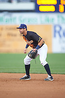 Wilmington Blue Rocks second baseman Austin Bailey (4) during a game against the Lynchburg Hillcats on June 3, 2016 at Judy Johnson Field at Daniel S. Frawley Stadium in Wilmington, Delaware.  Lynchburg defeated Wilmington 16-11 in ten innings.  (Mike Janes/Four Seam Images)