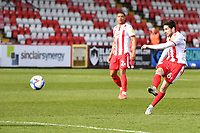 Tom Pett of Stevenage FC shoots wide during Stevenage vs Barrow, Sky Bet EFL League 2 Football at the Lamex Stadium on 27th March 2021